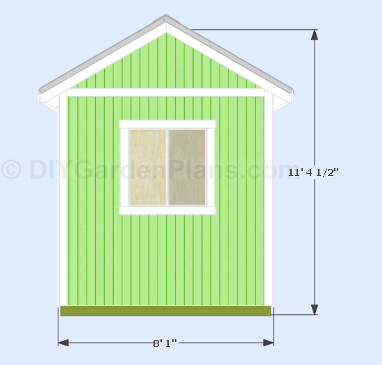 108 Gable Shed Plans  DIYGardenPlans