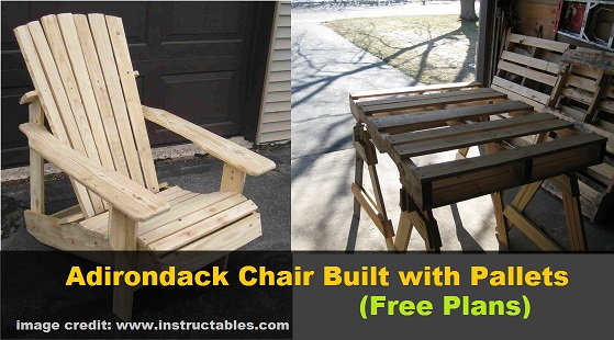 DIY Adirondack Chair Built with Pallets free plans