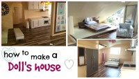 DIY: modern barbie doll house (recycled cardboard box ...