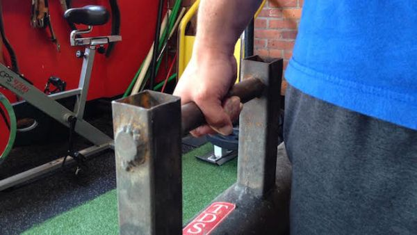 Farmers walk bars for athletic strength