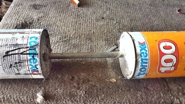 homemade dumbbells