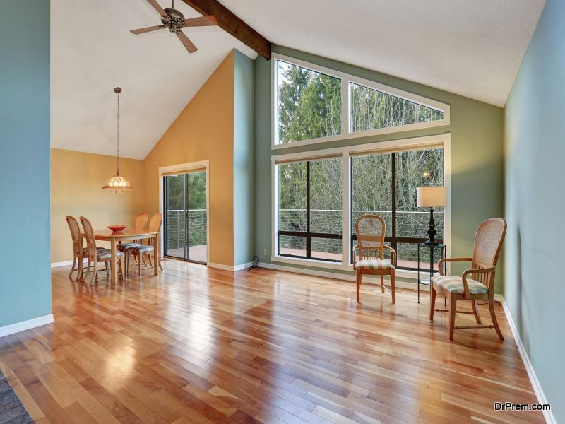 replace carpets with hard wooden floor