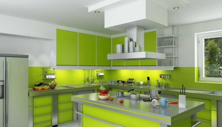 Refresh Your Mind With Beautiful Green Kitchen Ideas DIY Home Art - Green and grey kitchen ideas