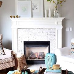 Fireplace For Living Room Ottoman In Creating Focal Point With Decor Diy Home Art Modern