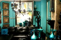 Pics For > Teal Black And White Living Room Ideas