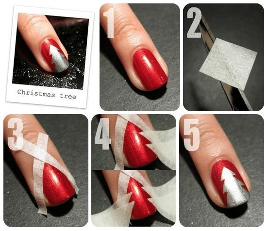 Tuto Nail Art Noel Facile Simple Christmas Nails