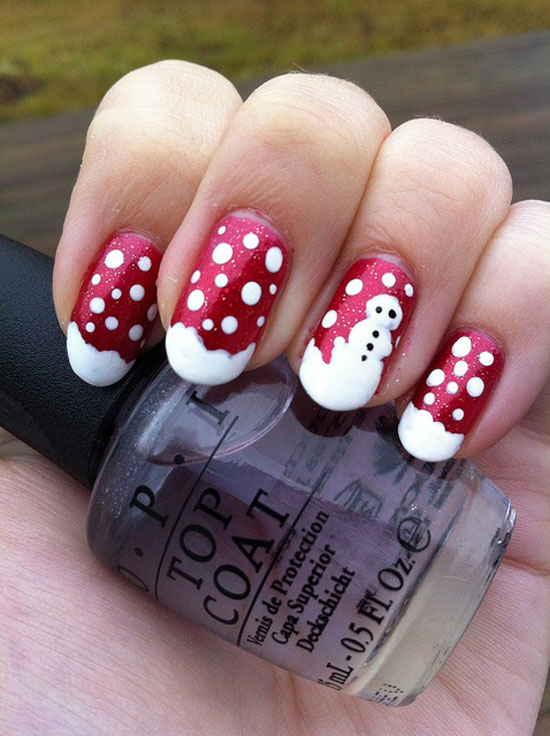 Best Easy Simple Christmas Nail Art Designs Ideas 38