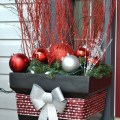 Decorative pots for christmas then line your driveway with these pots