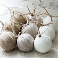 With jute and fabric are best for diy christmas tree decoration