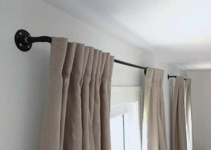 Stylish DIY Curtain Rods Ideas On Budget