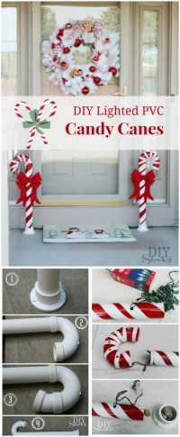 Diy Candy Cane Outdoor Decorations - Diy (Do It Your Self)