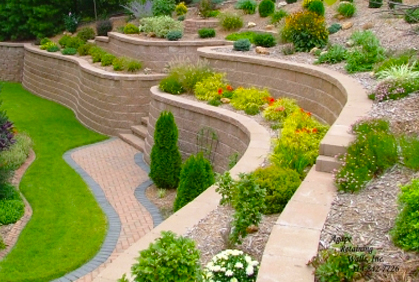 landscape design ideas sloped