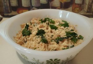 brown rice and kale