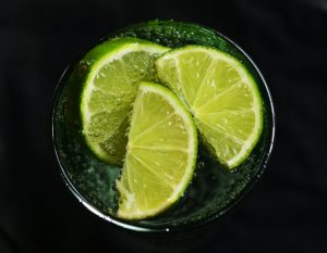 lime infused water