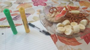 Peanut Butter Fruit and Pretzel Dip
