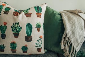 white green and brown throw pillow home