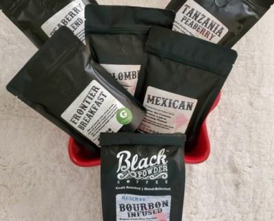 black powder coffee