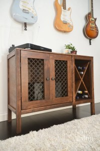 DIY Sideboard/Record Cabinet With Wine Storage (Free Plans ...