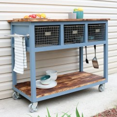 Mobile Island Kitchen Bench With Back Diy Grill Cart Huntress How To Build A Custom