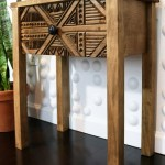Diy Wood Carved Side Table Diy Huntress