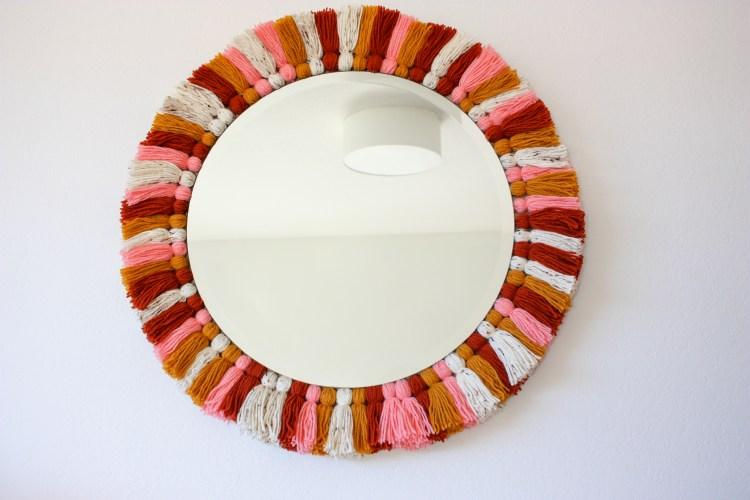 DIY Tassel Mirror