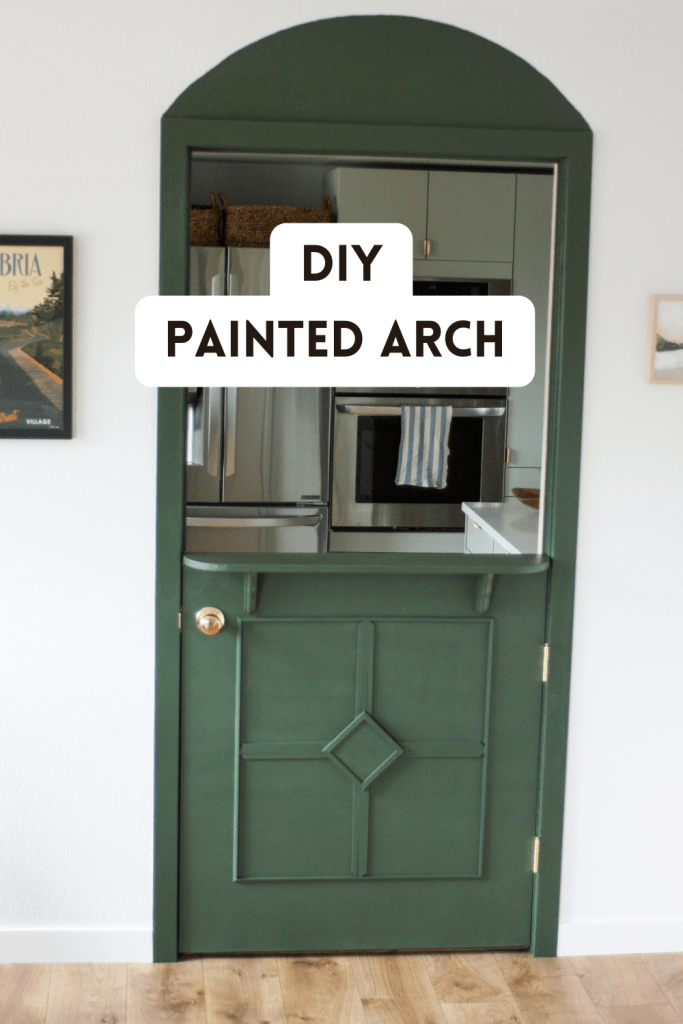 DIY painted arch