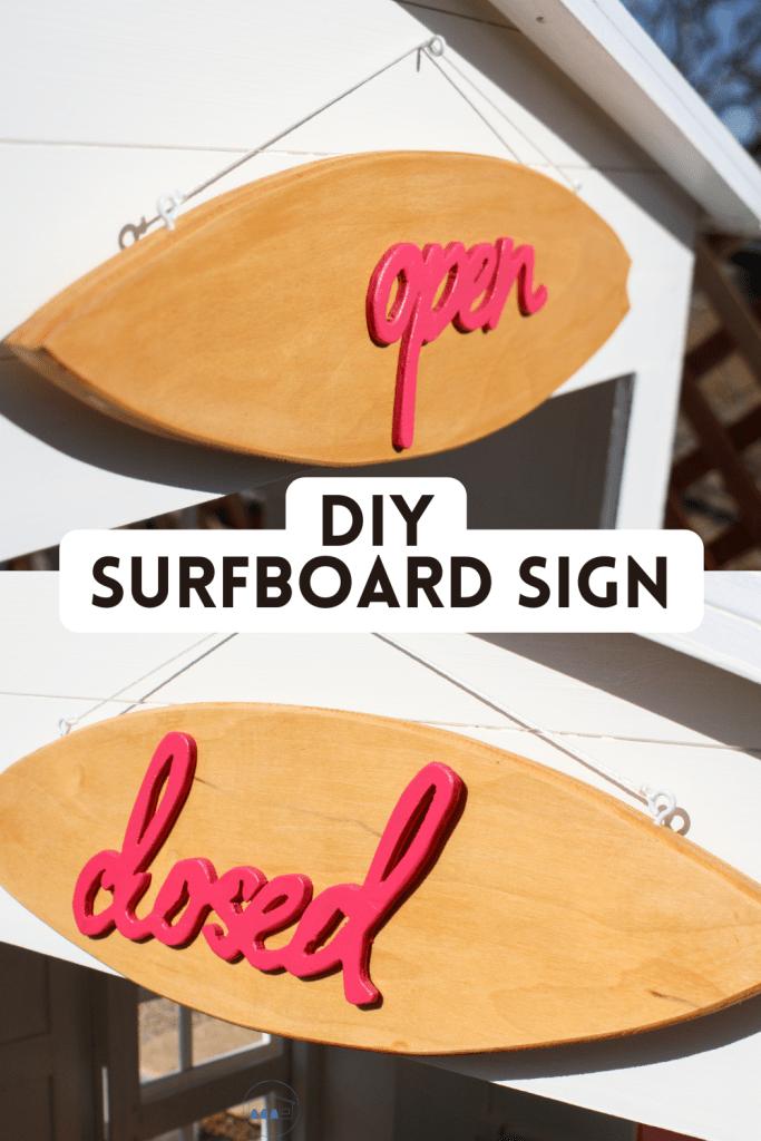 DIY Surfboard Sign Pinterest Image