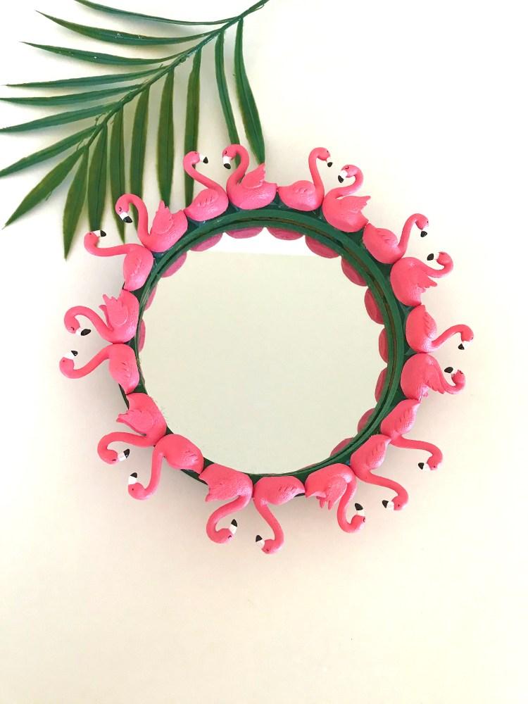 DIY Flamingo Wreath and Mirror