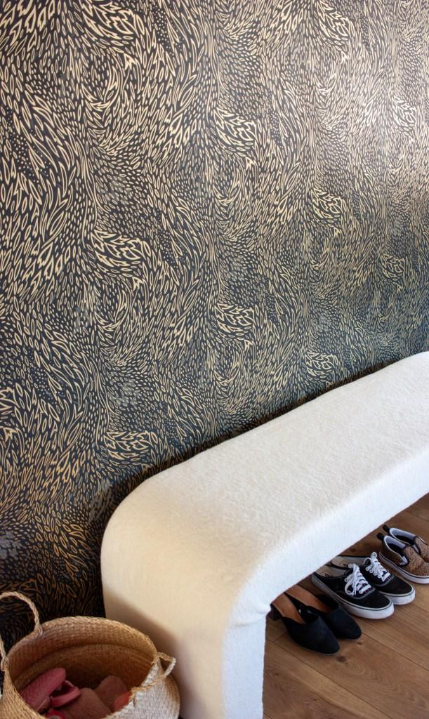 DIY Upholstered Waterfall Bench
