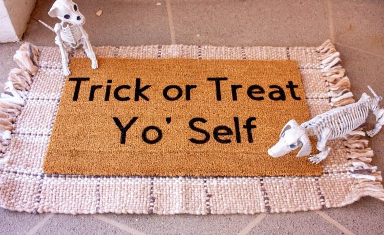 DIY Halloween Door Mat