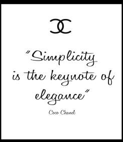Simplicity is the keynote of elegance