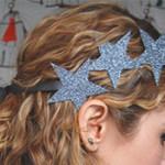 DIY Glitter Star Hairpin and Headband
