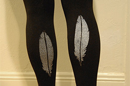 DIY Stenciled Leggings
