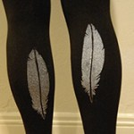 DIY Stenciled Leggings