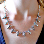 Tutorial: Rhinestone Spike Necklace