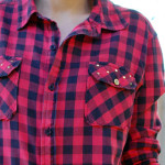 DIY Studded Plaid Shirt Tutorial