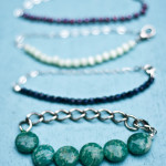 DIY Half and Half Chain and Bead Bracelet Tutorial
