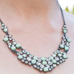 DIY Mint Rhinestone Necklace Makeover