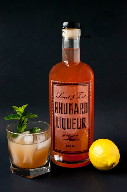 Make your own DIY rhubarb liqueur with this easy recipe. Makes a great base for cocktails!