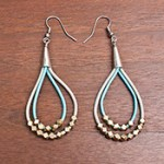 DIY Leather Cord and Brass Bead Earrings Tutorial