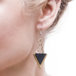 DIY Leather Triangle Earrings Tutorial