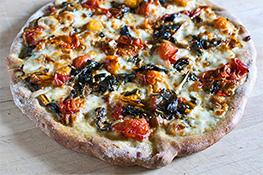 Cherry Tomato and Chard Pizza Margherita