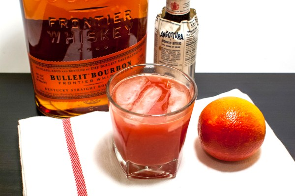 Blood Orange Bourbon Cocktail