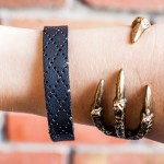 DIY Leather Bangle Bracelet