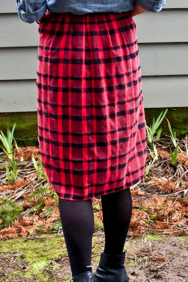 Plaid Skirt Makeover