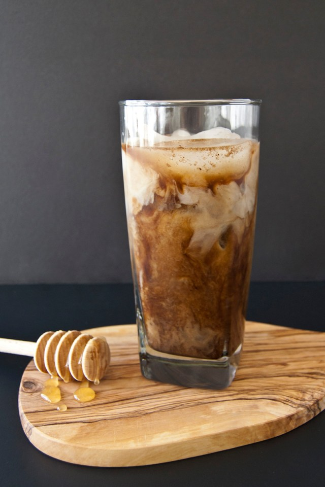 Too hot for coffee? Stay cool with honey almond milk cold-brew coffee #recipe #coffee