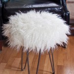 Make a Faux Fur Stool with Hairpin Legs