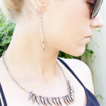 DIY Spiked Necklace and Earrings