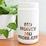 Stencil Your Change Jar