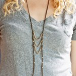 Make a Leather and Chain Ladder Necklace